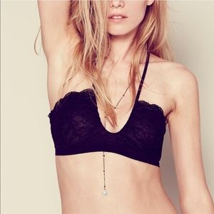 [Free People] 'All For U' Black Bralette